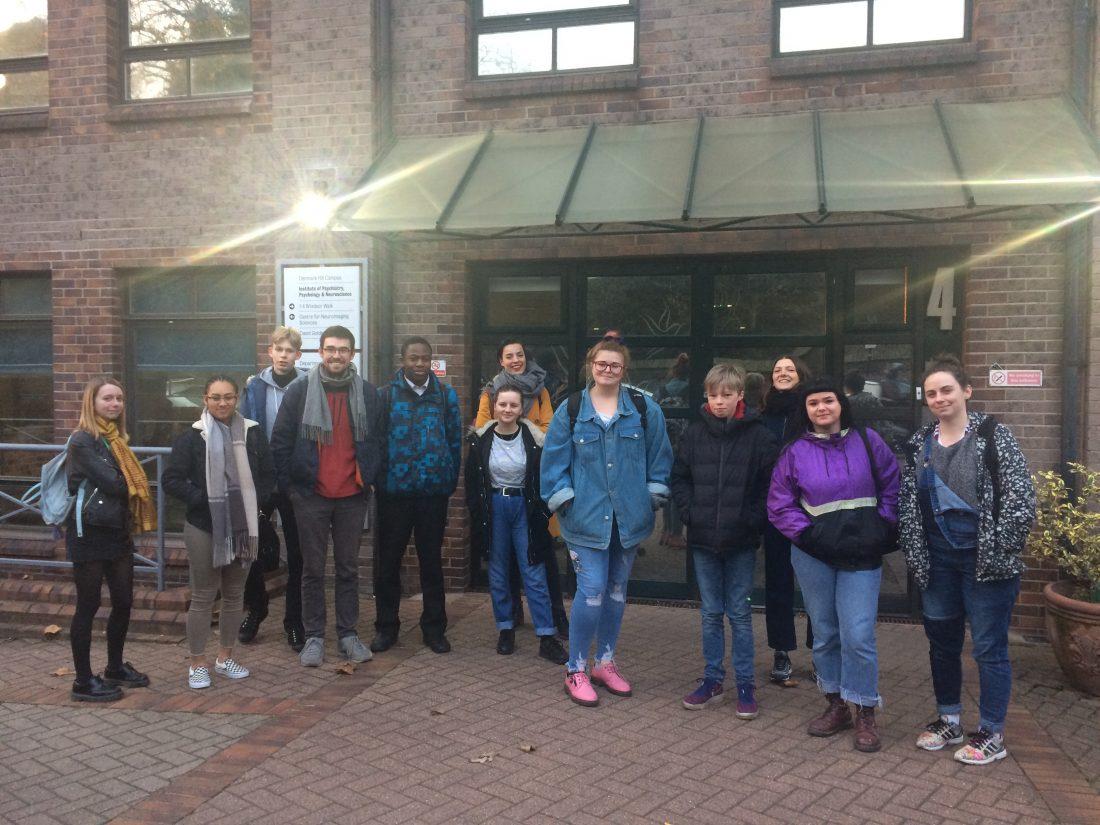 <p>Art Assassins and Ilona Sagar outside MRC London Neurodegenerative Diseases Brain Bank, Denmark Hill.</p>