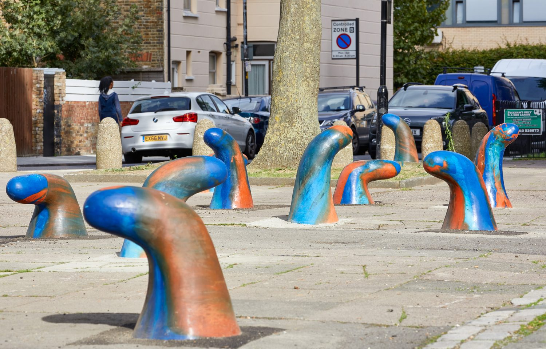 Gabriel Lester Trek sculptures