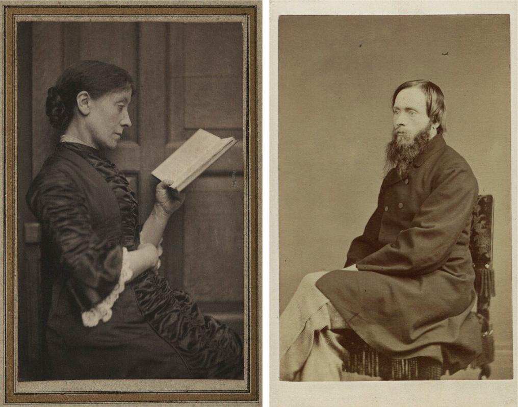 <p>Frederick Hollyer, <em>Georgiana, Lady Burne-Jones</em>, c. 1882. National Portrait Gallery/John Watkins, <em>Sir Edward Burne-Jones</em>, c. 1864. National Portrait Gallery</p>