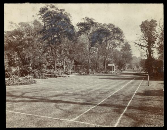 <p>Photograph of the tennis courts in the grounds of Camberwell House Asylum. Wellcome Library (ref: RCPSYCHX1/6)</p>