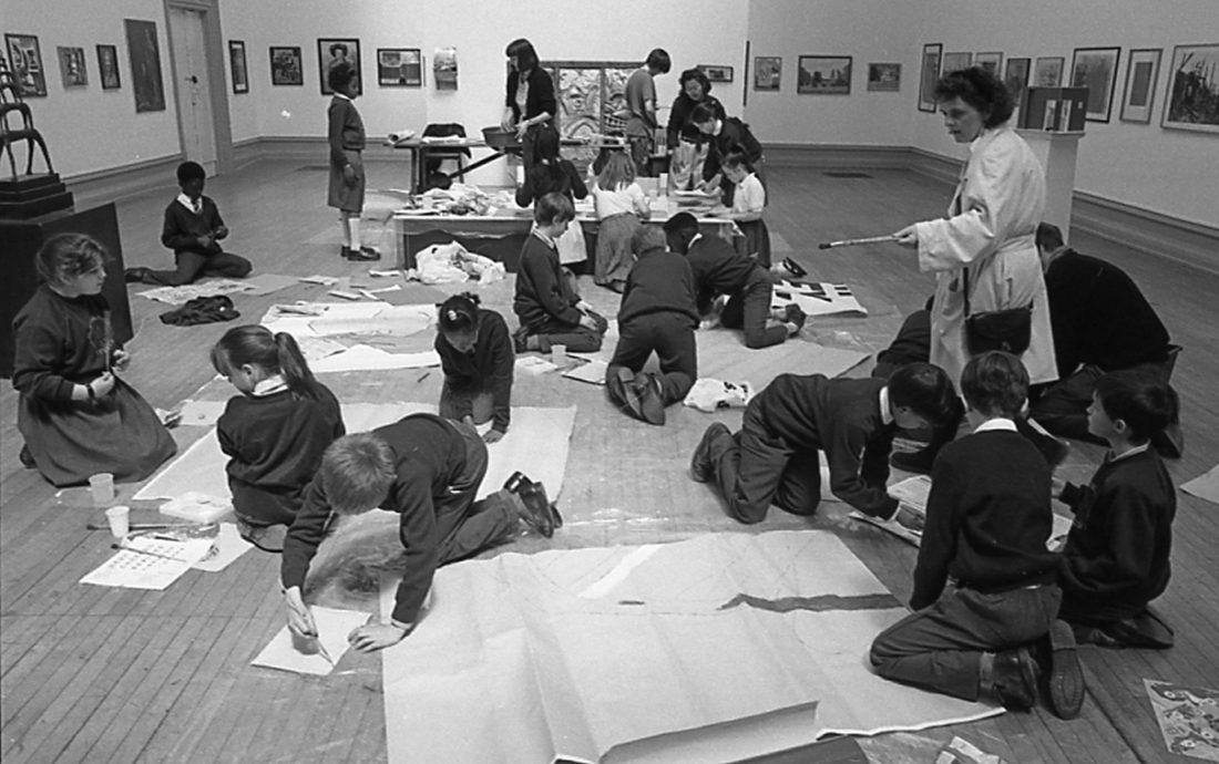 <p>A workshop for children during the exhibition 1991 <em>Southwark Open Exhibition</em></p>