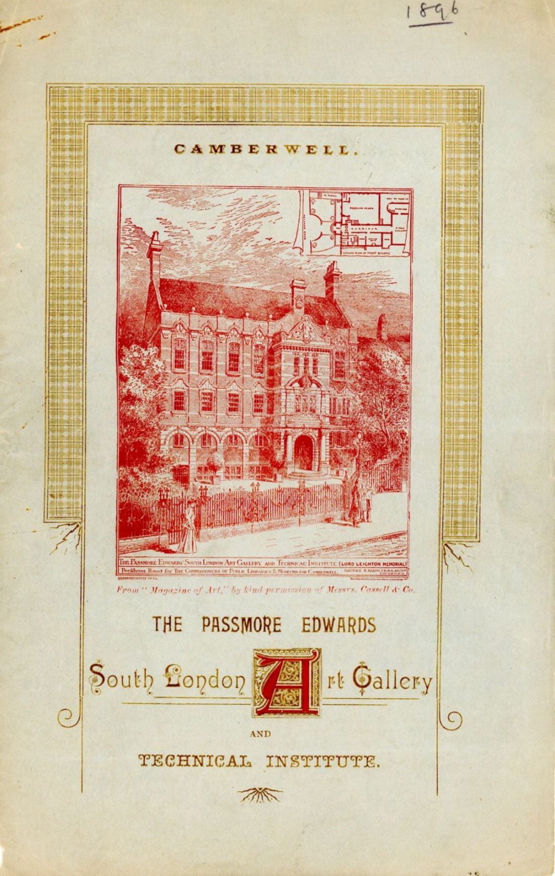 <p>Pamphlet to mark the laying of the foundation stone of the new art school, 1896. South London Gallery Archive</p>