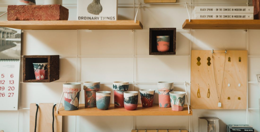 <p>JDP ceramics and Just Trade jewellery in the SLG shop at the Fire Station</p>