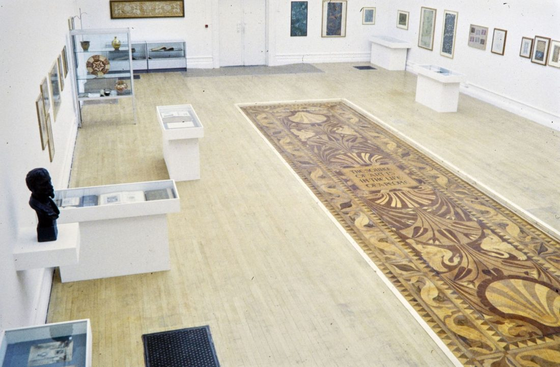 <p>Installation view of Walter Crane Floor and Exhibition, South London Gallery, 2001.</p>