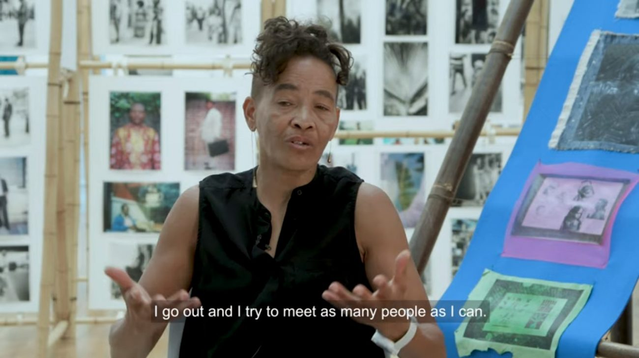 Watch our interview with the artist