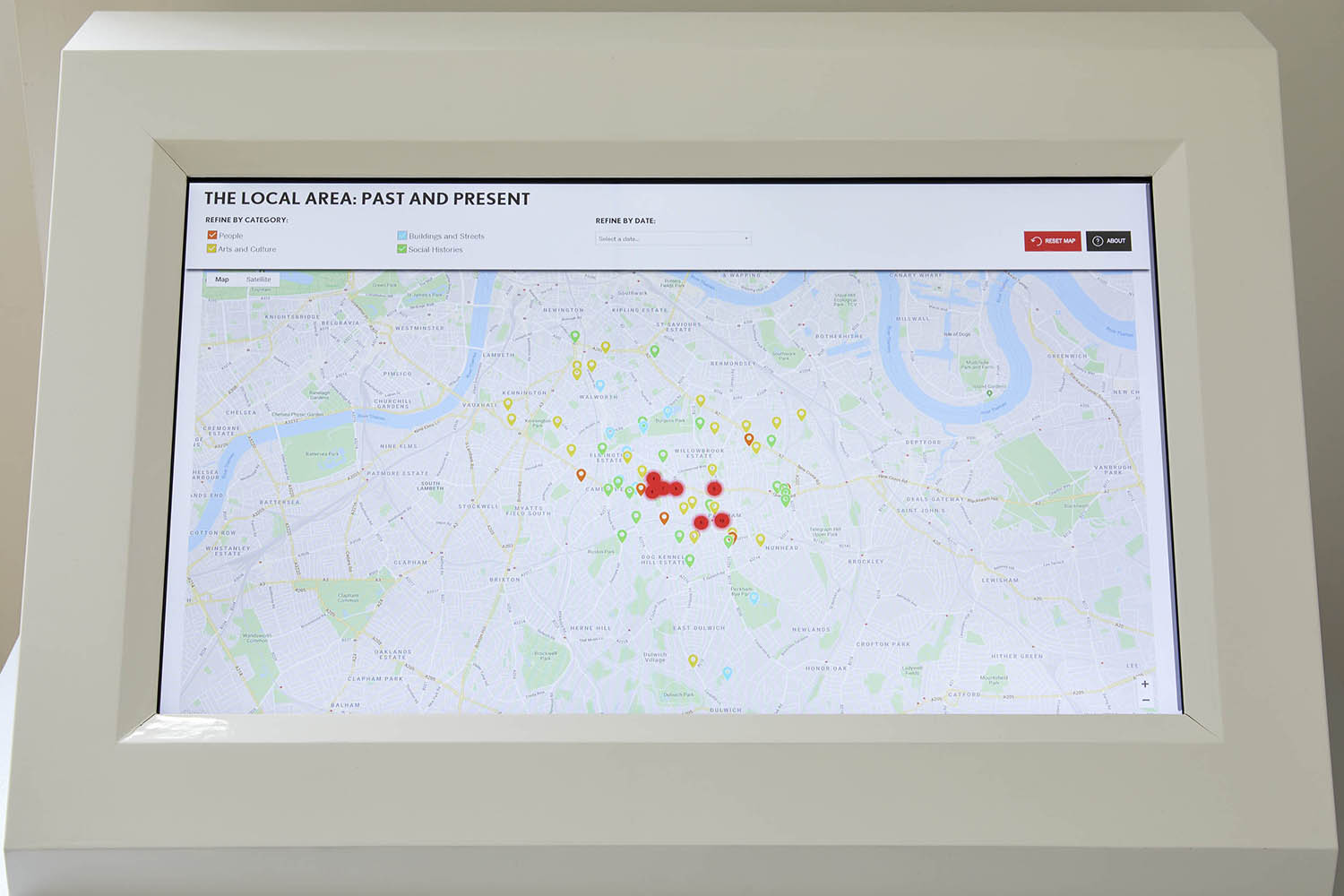 South London Areas Map.A History Of South London In 100 Places And Counting South