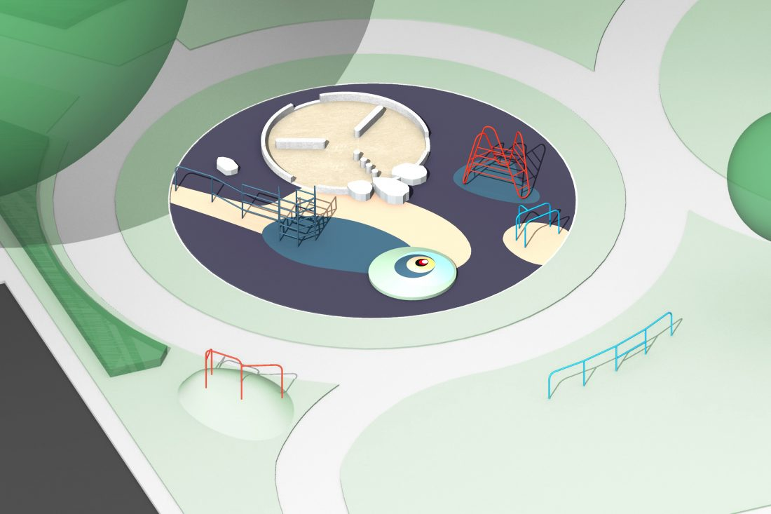 <p>Design for Elmington Estate Playground, Céline Condorelli</p>
