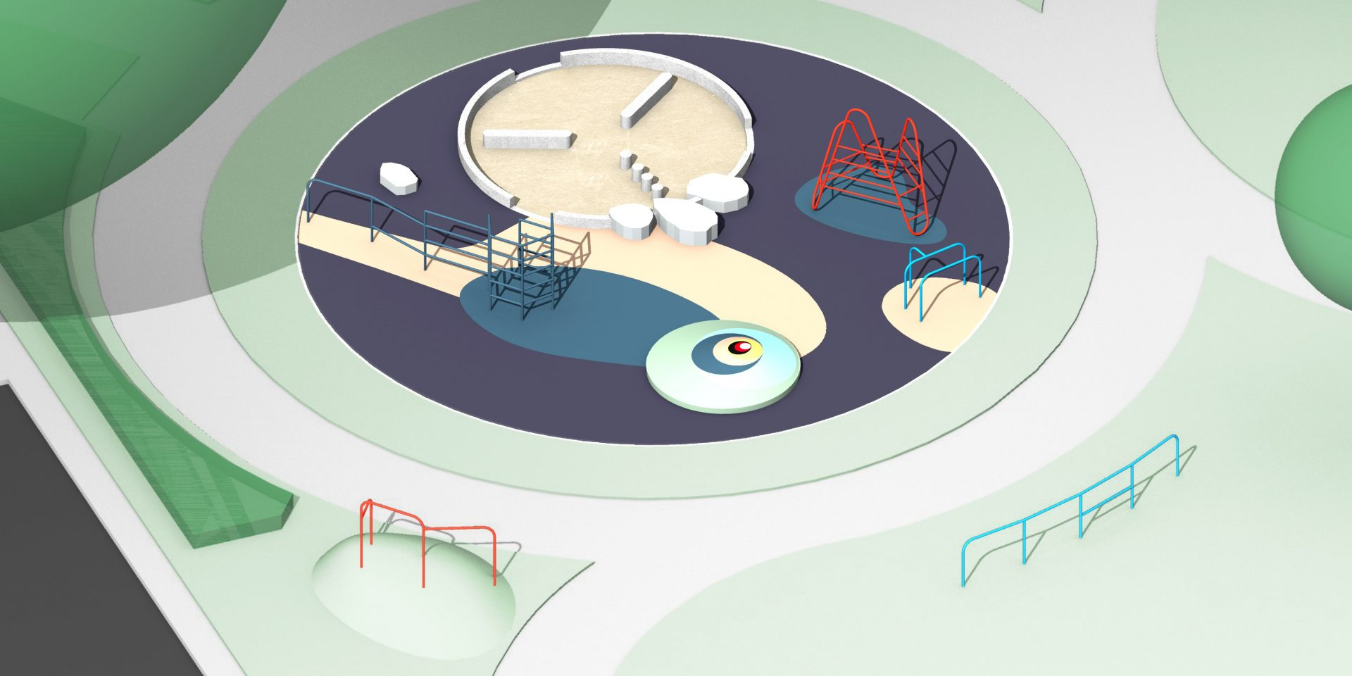 Design for Elmington Estate Playground, Céline Condorelli