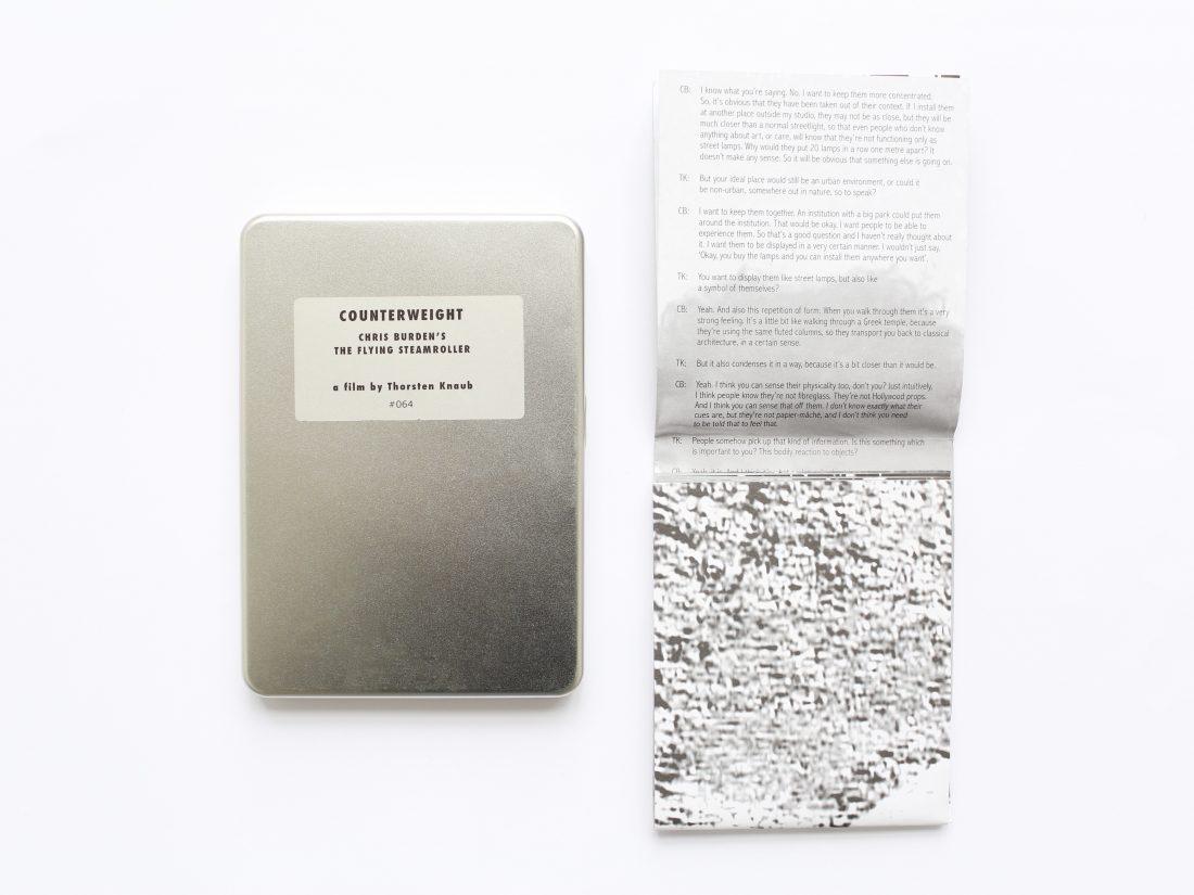 Burden Counterweight DVD Inside 2