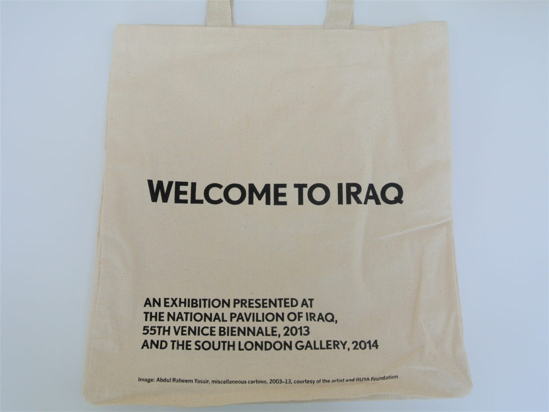 Welcome To Iraq Easel Tote Bag Back