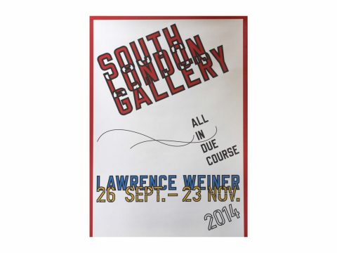 Lawrence Weiner Exhibition Poster