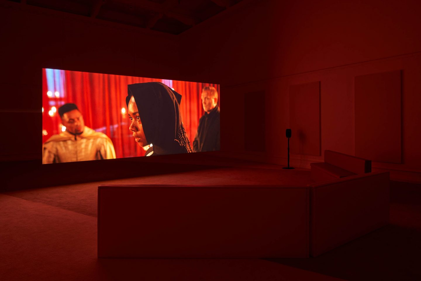 Sophie Cundale, The Near Room, 2020 (film still). Installation view at the South London Gallery. Photo: Andy Stagg. Courtesy the artist and FVU