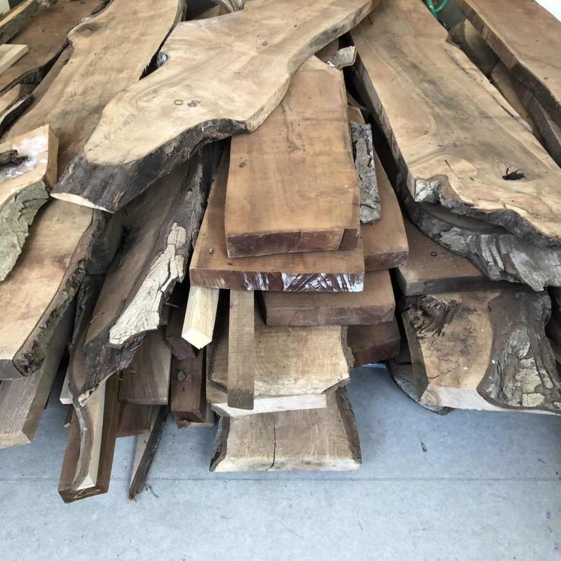 <p>Black Walnut residual timber, Art Block. Photo: Guy Mannes-Abbott, 22 May 2020</p>
