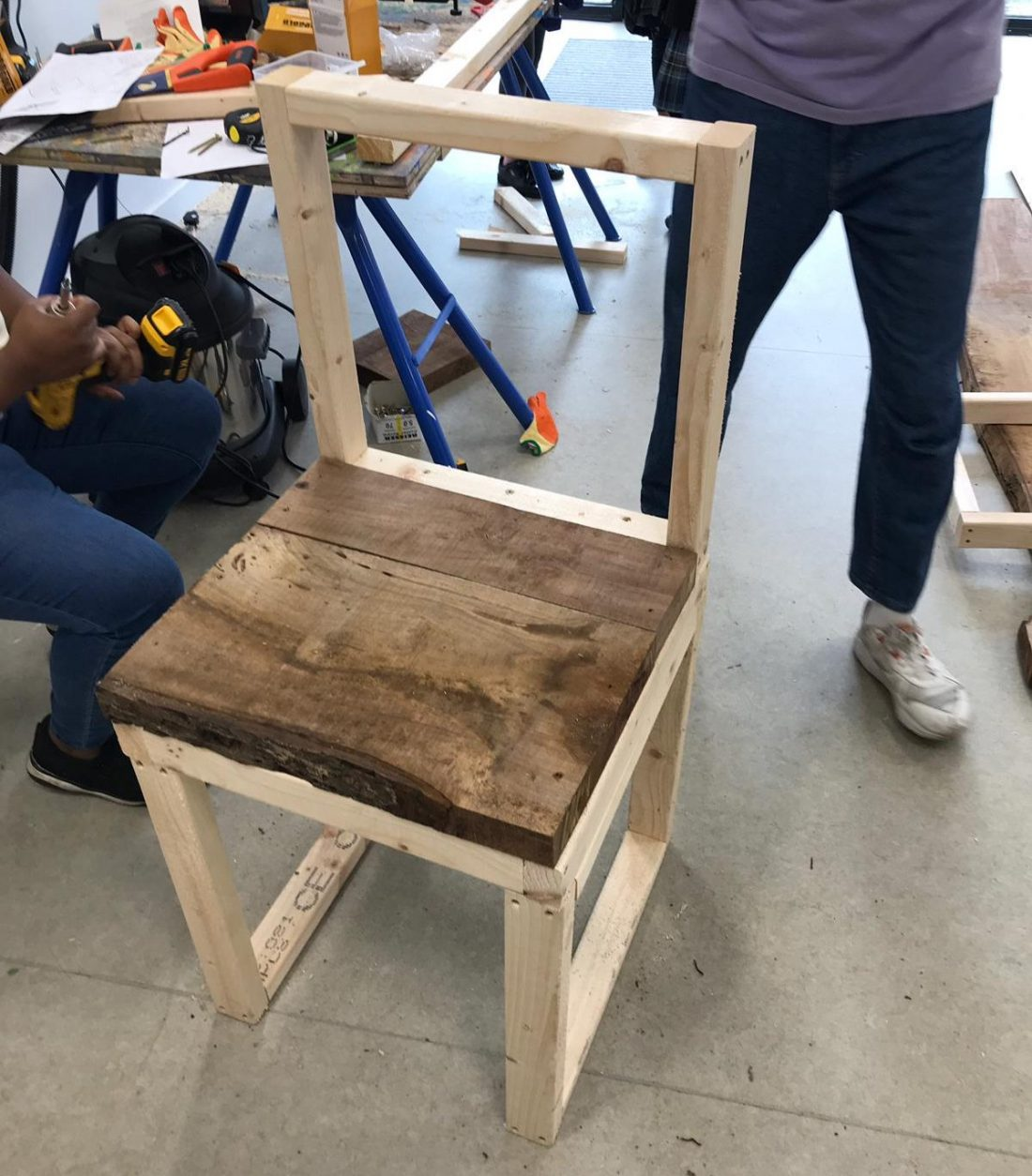 <p>Chair made from walnut wood by children at Art Block. Photo: Jahzel Newell-Marshall</p>