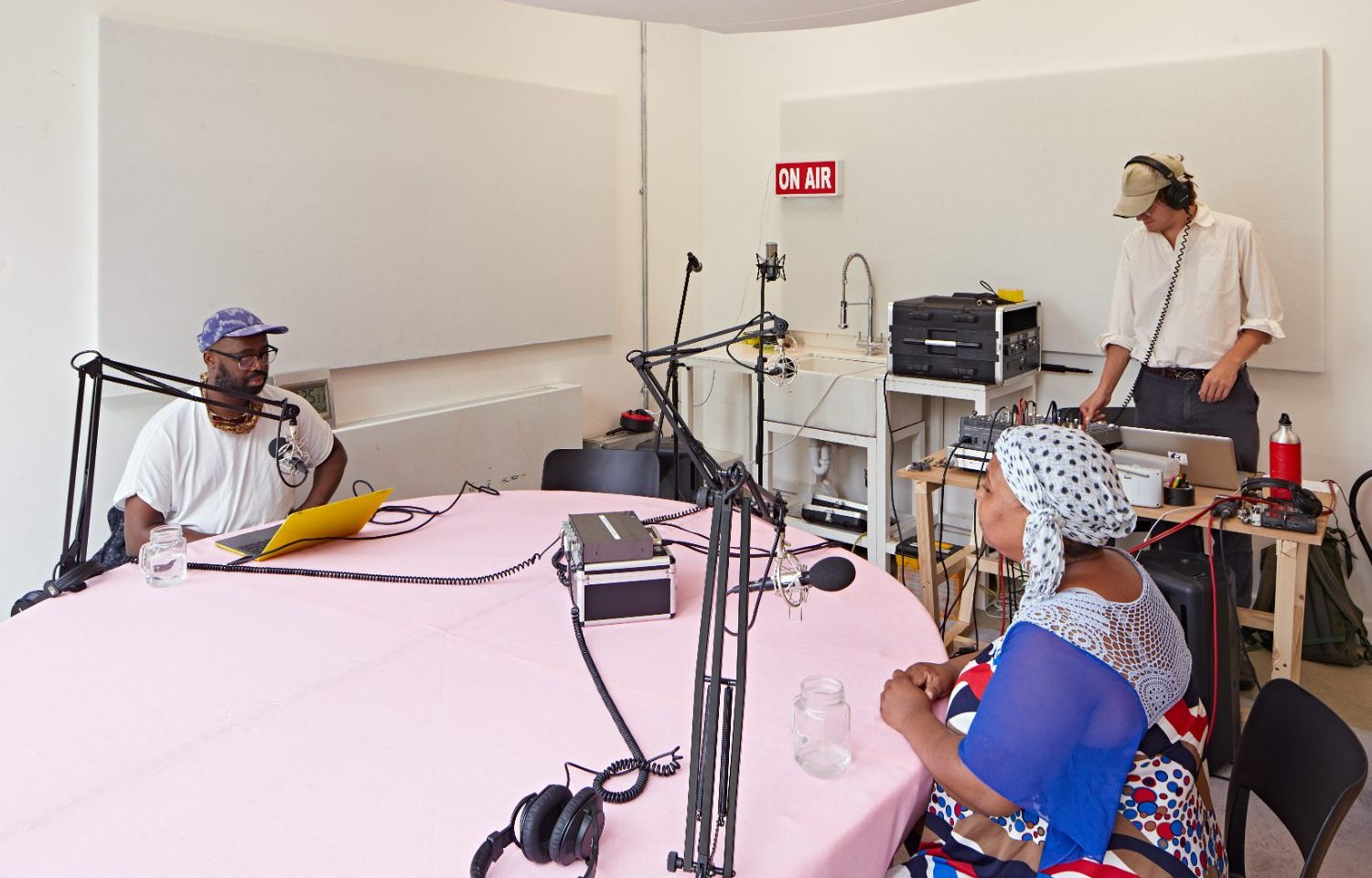 Sceaux Gardens Estate resident Zakia Mohamadi in conversation with Harold Offeh