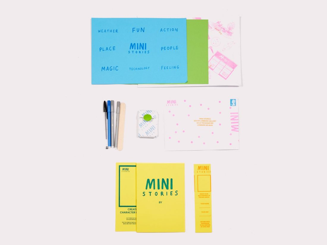 <p>Mini Stories packs, designed by illustrator Aleesha Nandhra with Jahzel Marshall, SLG Residents' Programme Assistant, were distributed locally during lockdown, inviting children to write and draw their own stories using illustrated cards for inspiration.</p>