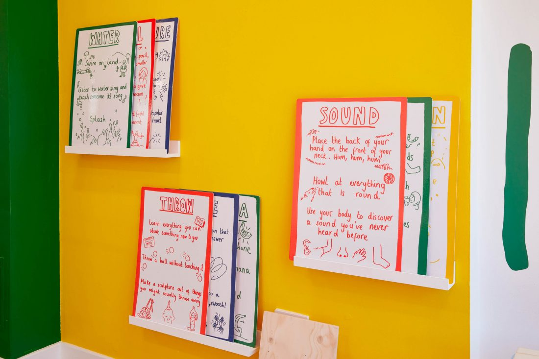 <p>Rumpus Room, <em>Playing for the Future</em>, 2021, installation view at Art Block. Photo: Andy Stagg</p>