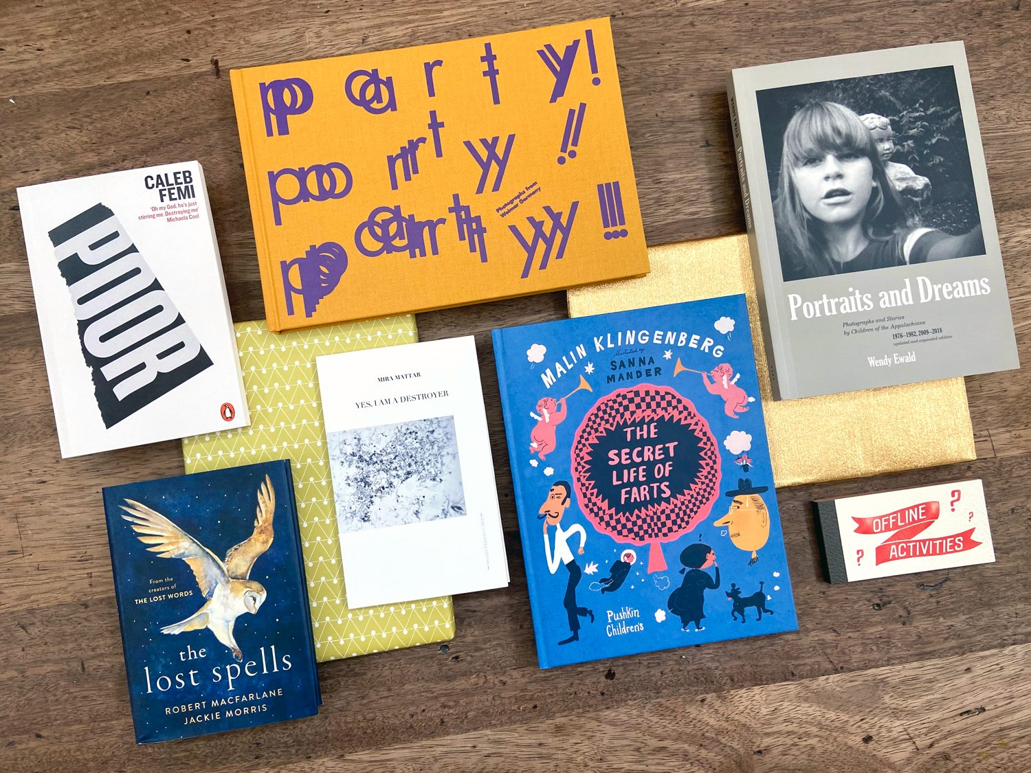A selection of books from Phoebe's list