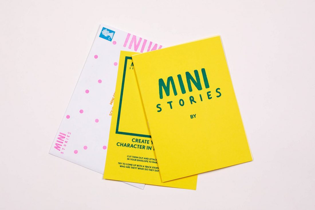 <p>Mini Stories pack, designed by illustrator Aleesha Nandhra with Jahzel Newell-Marshall, SLG Residents' Programme Assistant. Photo: Andy Stagg</p>