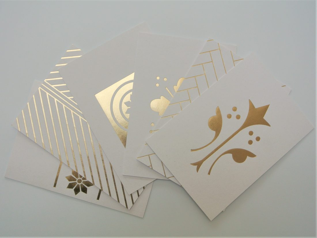 Ola SLG Bespoke Fire Station Details Brass Gold Foil Postcard