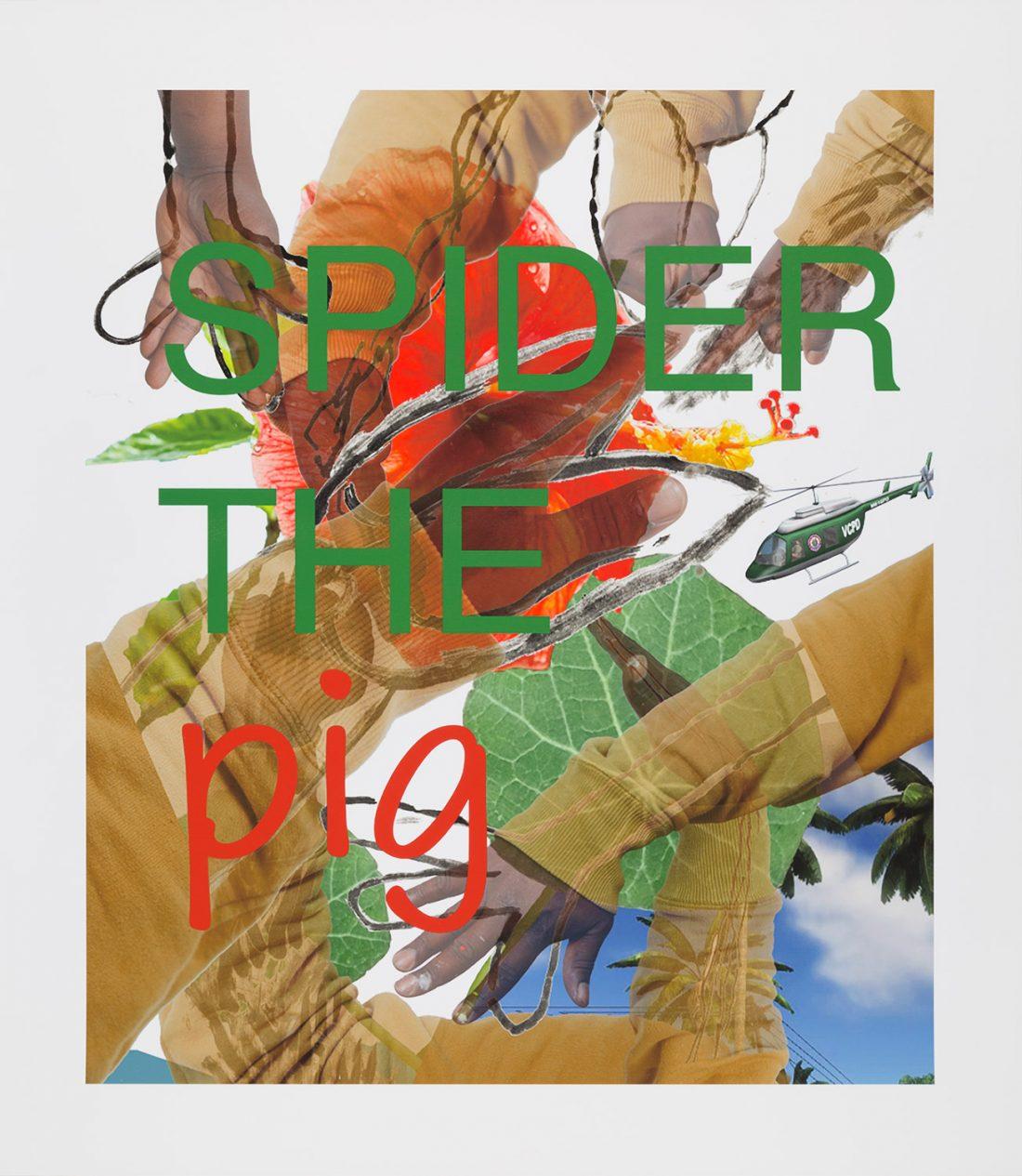 <p>Alvaro Barrington, &#8216;Spider the Pig, Pig the Spider&#8217;, 2021. Photo: David Harrison.</p>